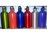 Aluminum water bottle to a bicycle 400 ml  MJ3802