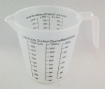 Plastic cup with scoop 1000 ml MJ-0265
